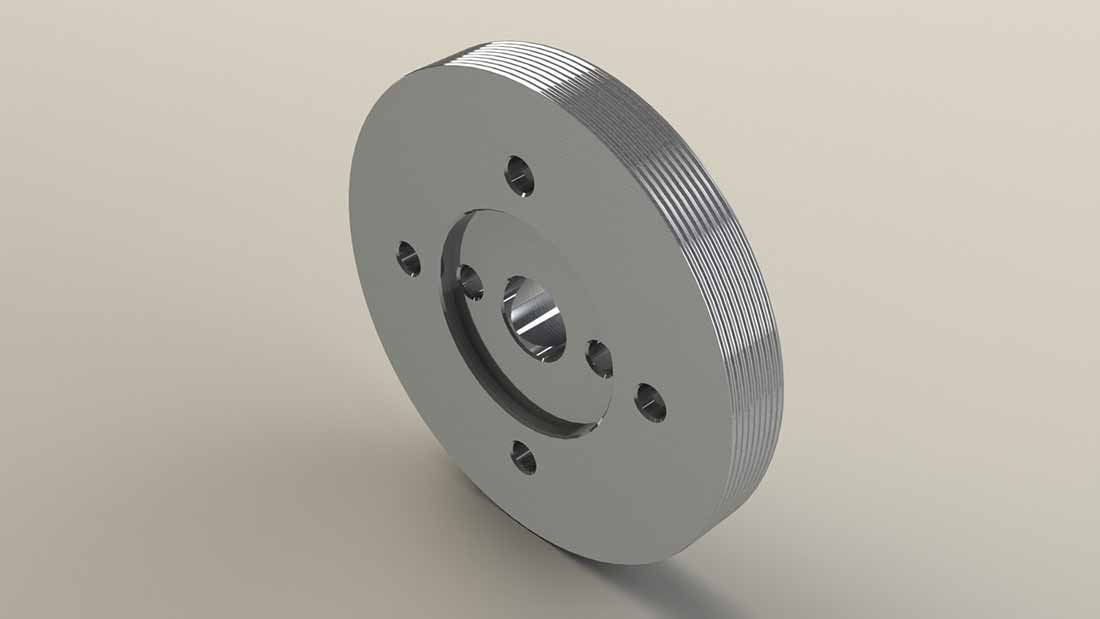High Durability Stainless Steel Fin Wheel - Horizontal Pattern